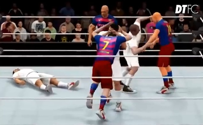 Hoat hinh vui: Khi El Clasico bien thanh vo dai WWE hinh anh