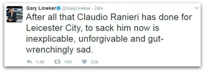 The gioi bong da bat binh khi Ranieri bi sa thai hinh anh 2