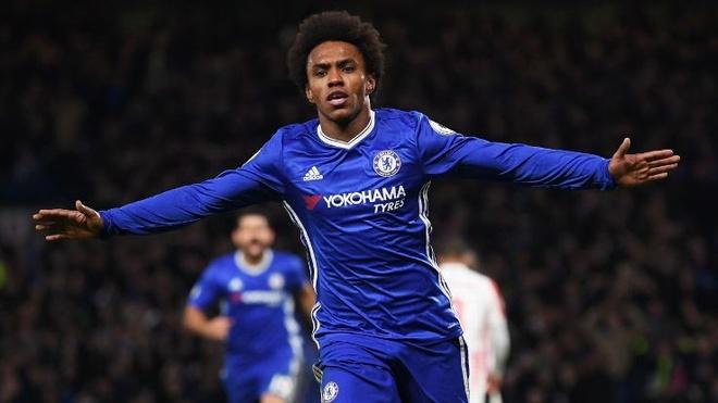 Nhung ban thang dang cap cua Willian trong mau ao Chelsea hinh anh