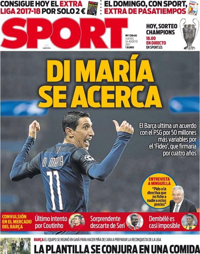 Barca sap co Di Maria, Real bi PSG vuot mat vu Mbappe hinh anh 1