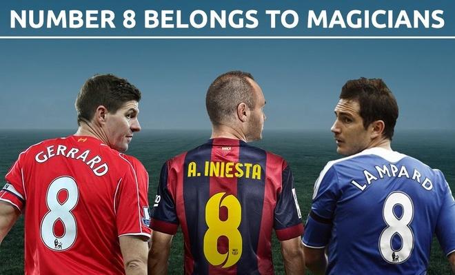 Lampard, Iniesta va nhung cau thu mac ao so 8 noi tieng nhat lich su hinh anh