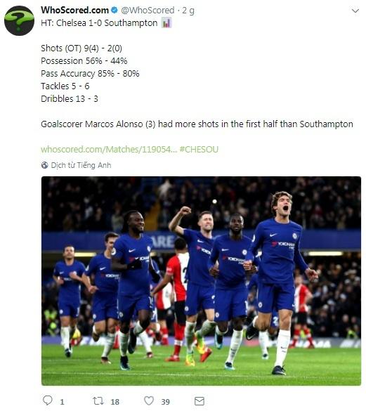 Chuyen gia sut phat len tieng, Chelsea nhoc nhan thang Southampton hinh anh 5