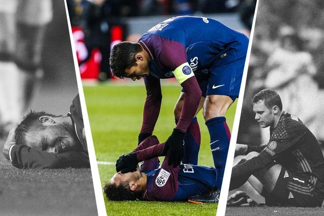 Neymar, Messi va nhung sao tung 'gap han' voi xuong ban chan hinh anh