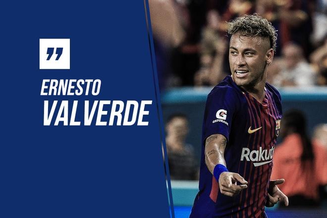 HLV Valverde tra loi ve tin don Neymar tro lai Barca hinh anh