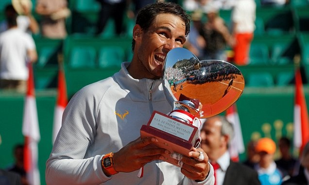 Highlights Da bai Nishikori, Nadal vo dich Monte Carlo lan thu 11 hinh anh