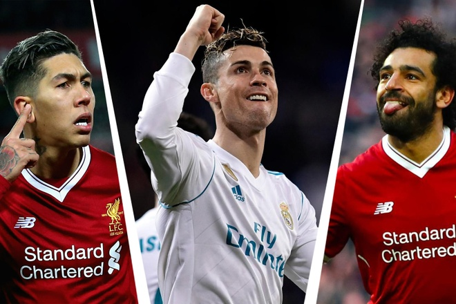 Ronaldo, Salah linh xuong hang cong doi hinh ket hop Real - Liverpool hinh anh