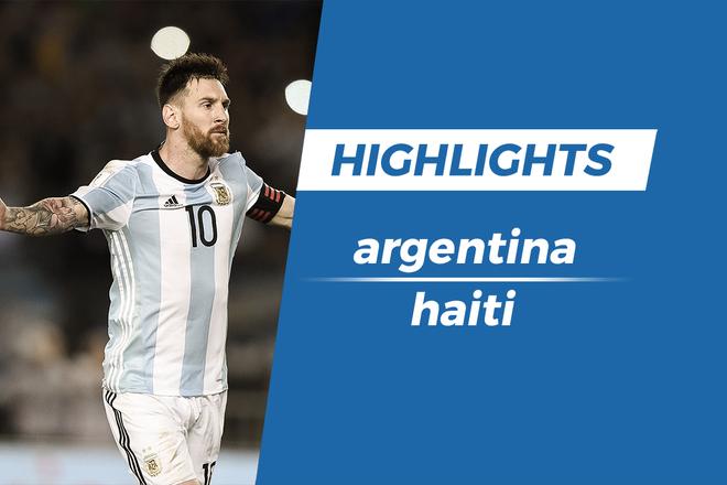Highlights Messi lap hat-trick, Argentina thang de Haiti hinh anh