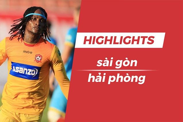 Highlights CLB Sai Gon 0-1 CLB Hai Phong: Fagan toa sang hinh anh