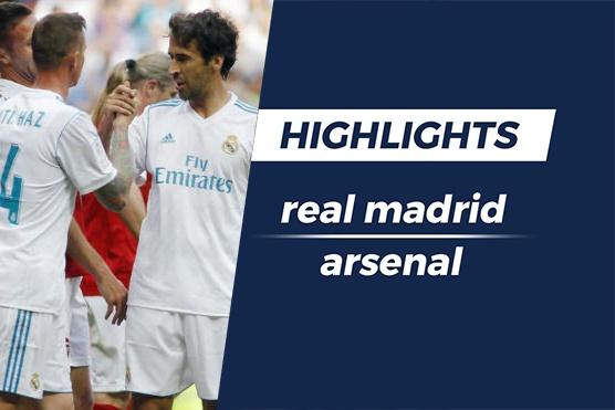Highlights Raul lap cong, huyen thoai Real thang Arsenal hinh anh