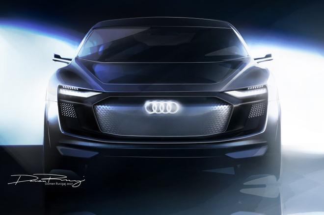 Audi he lo mau xe dien cao cap E-tron Concept hinh anh