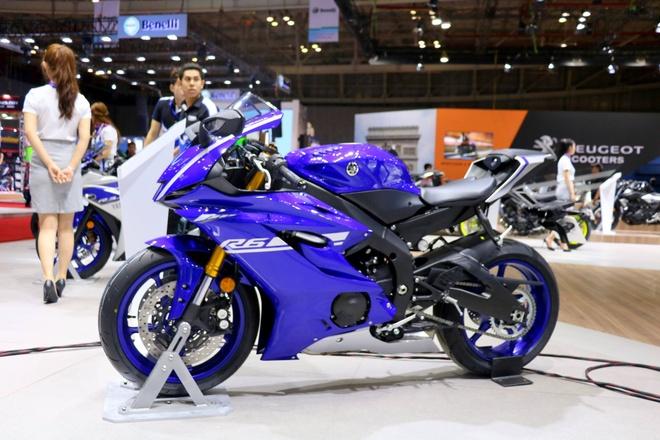 Yamaha YZF-R6 moi ra mat tai Vietnam Motorcycle Show 2017 hinh anh