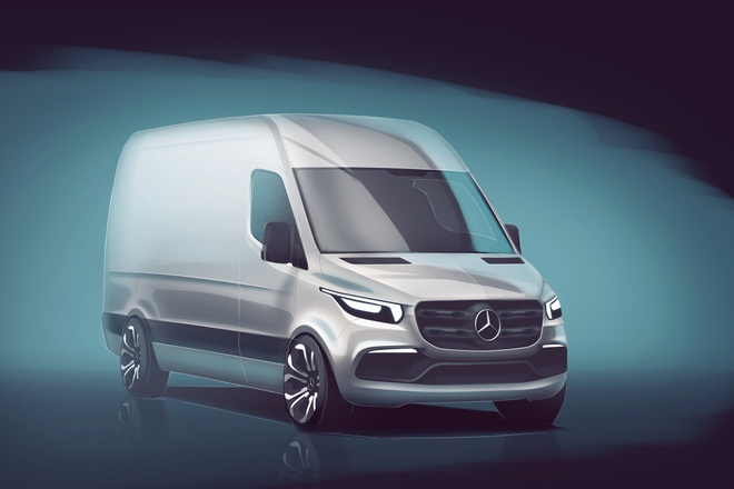 Mercedes Sprinter 2018: Tro lai va danh bai Ford Transit? hinh anh 1