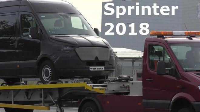 Mercedes Sprinter 2018 thu nghiem lo dien tren duong cong cong hinh anh