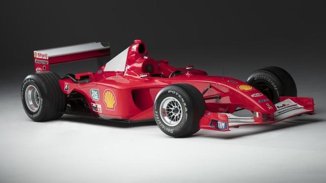 Xe dua F1 cua huyen thoai Michael Schumacher duoc ban gia 7,5 trieu do hinh anh