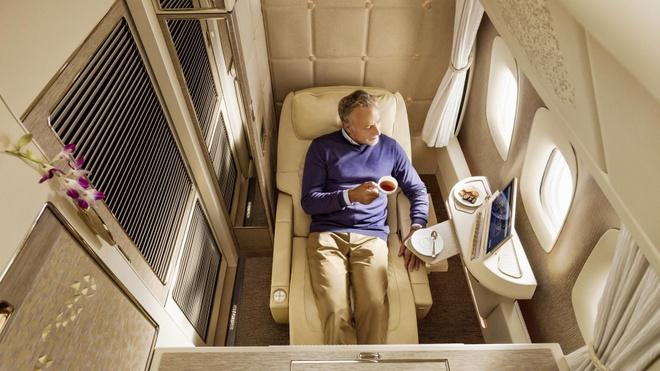 Khoang hang nhat hang bay Emirates phong cach Mercedes S-Class hinh anh 4