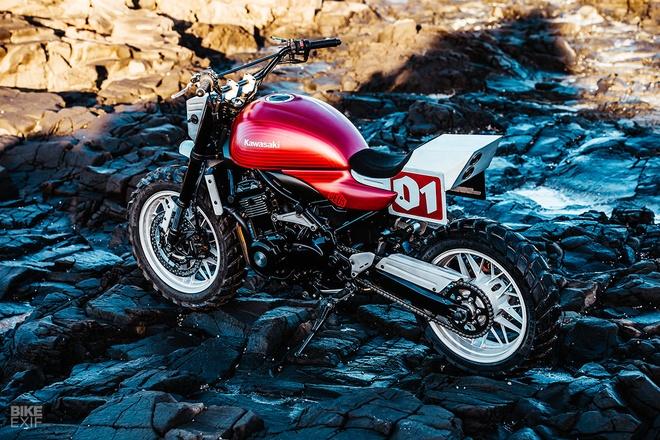 Kawasaki Z900RS Stone Tracker phong cach chua te bong dem hinh anh 2