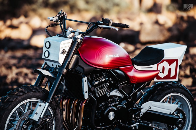 Kawasaki Z900RS Stone Tracker phong cach chua te bong dem hinh anh 4