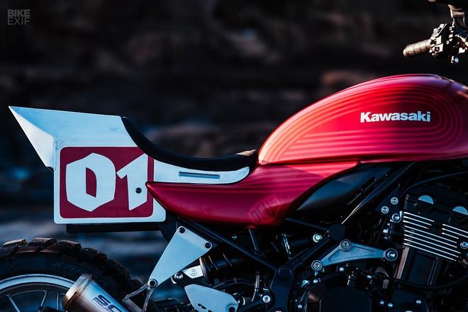 Kawasaki Z900RS Stone Tracker phong cach chua te bong dem hinh anh 5