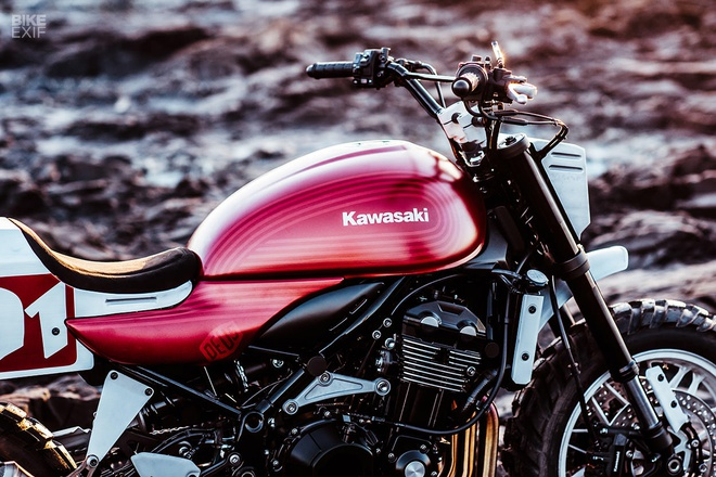 Kawasaki Z900RS Stone Tracker phong cach chua te bong dem hinh anh 7
