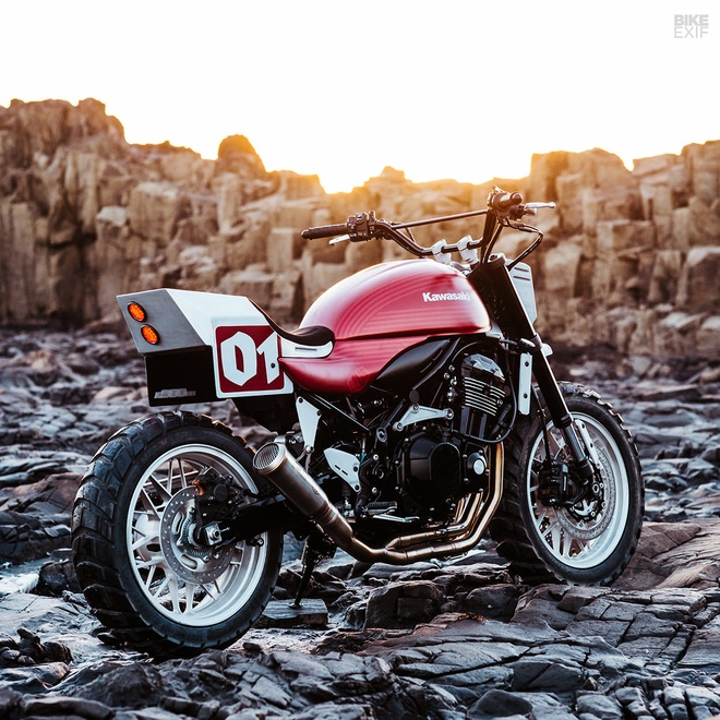 Kawasaki Z900RS Stone Tracker phong cach chua te bong dem hinh anh 6
