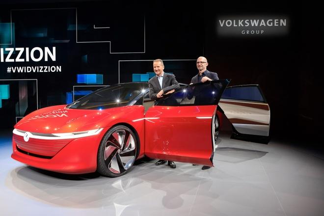Sieu sedan khong can nguoi lai Volkswagen ID Vizzion ra mat hinh anh 1