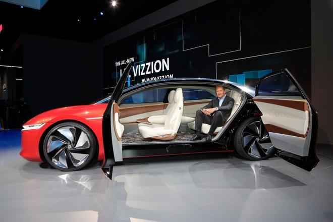 Sieu sedan khong can nguoi lai Volkswagen ID Vizzion ra mat hinh anh 8