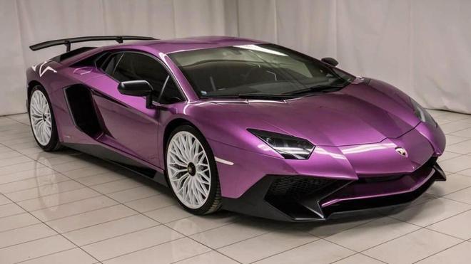 Lamborghini Aventador phien ban mau tim doc nhat anh 1