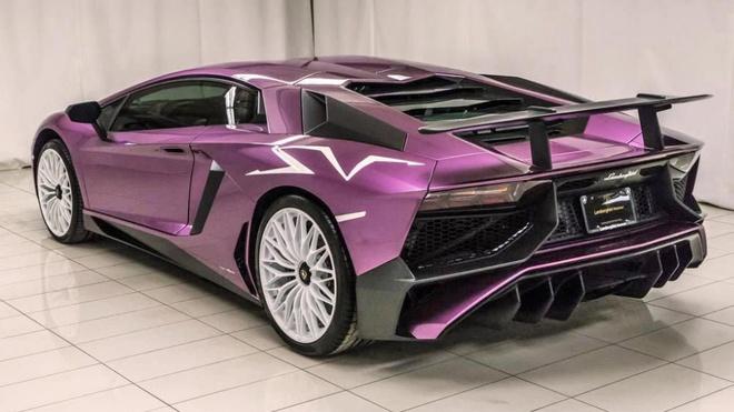 Lamborghini Aventador phien ban mau tim doc nhat anh 4