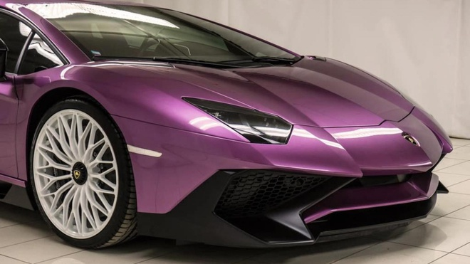 Lamborghini Aventador phien ban mau tim doc nhat anh 5