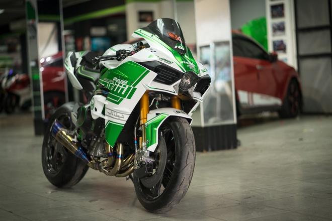 Kawasaki H2 Phong Cách Cảnh Sát Dubai Tại Sài Gòn Xe 360 Zingvn