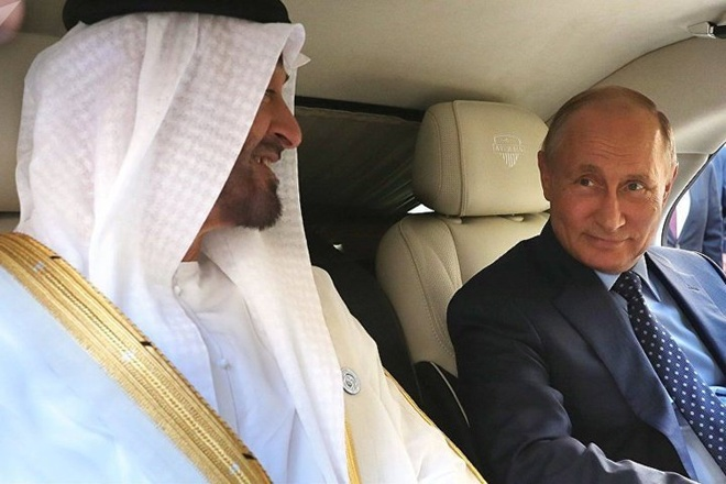 Ong Putin khoe xe limousine voi Thai tu Abu Dhabi hinh anh