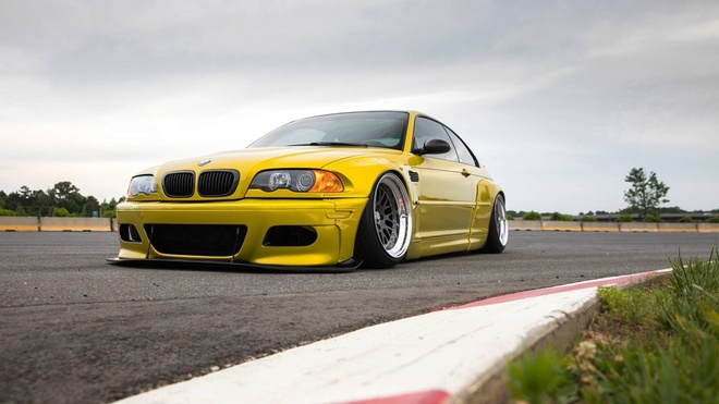 BMW M3 E46 lot xac voi goi do Widebody Rocketbunny hinh anh