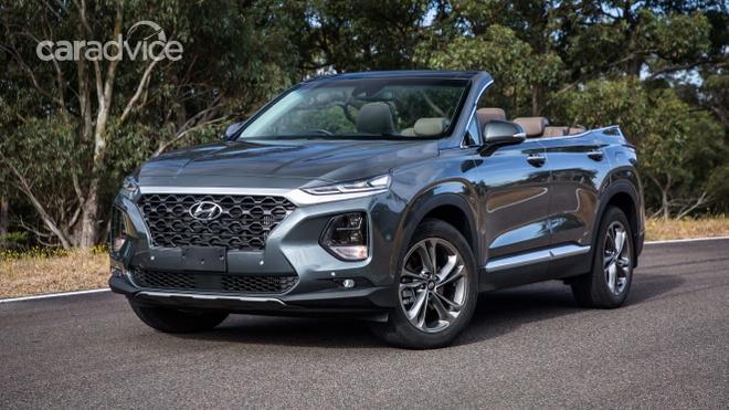 Hyundai he lo mau mui tran 7 cho Santa Fe Cabriolet 2019 hinh anh