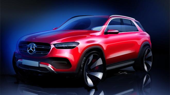 Mercedes cong bo phac thao mau SUV GLE 2019 truoc ngay ra mat hinh anh