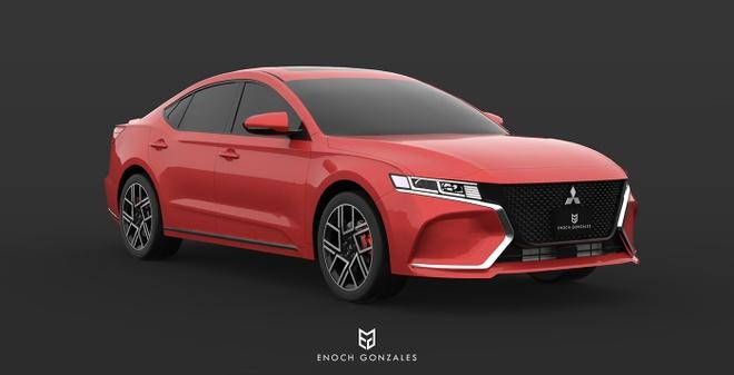 He lo sedan tam trung cua Mitsubishi ra mat nam 2020 hinh anh 3