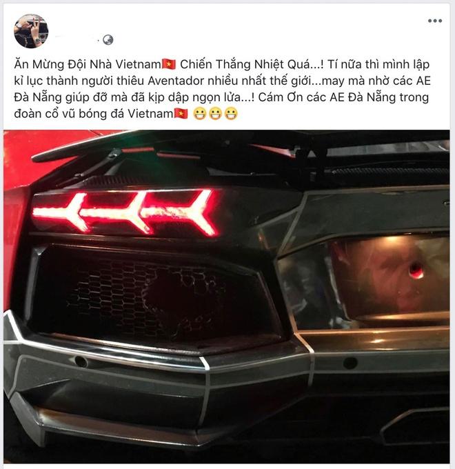 Di bao an mung, sieu xe Lamborghini net po chay duoi o Da Nang hinh anh 1