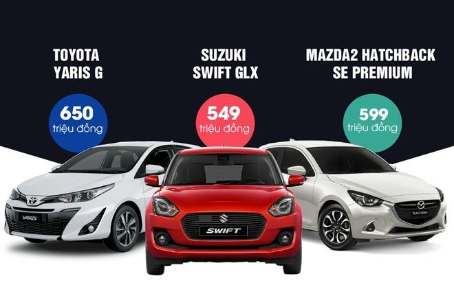 Tan binh Mazda2 va Suzuki Swift doi dau Toyota Yaris hinh anh