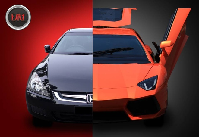Tho An bien Honda Accord thanh Lamborghini Aventador hinh anh 2