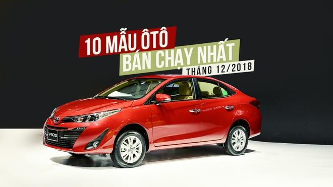 Top 10 xe hoi ban chay nhat thang 12/2018 - Vios tiep tuc dan dau hinh anh