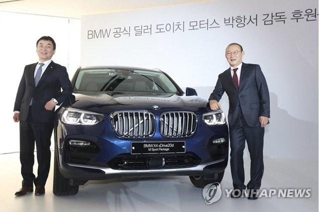 HLV Park Hang-seo duoc tang xe sang BMW X4 hinh anh 1