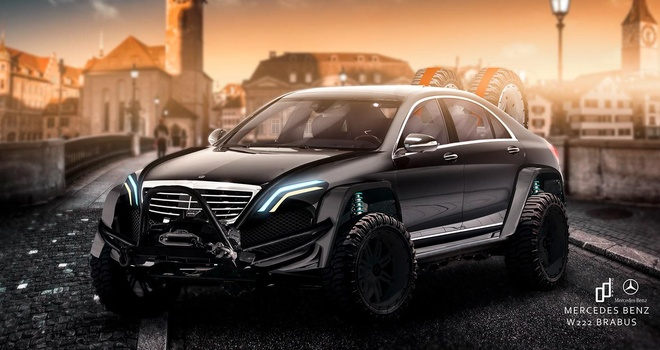 Mercedes S-Class lot xac thanh 'chien binh' voi ban do offroad hinh anh 1