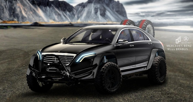 Mercedes S-Class lot xac thanh 'chien binh' voi ban do offroad hinh anh 2