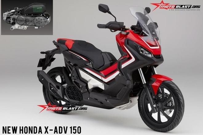 Xe ga dia hinh Honda X-ADV co ban 150 cc, chung dong co voi Honda PCX? hinh anh 1