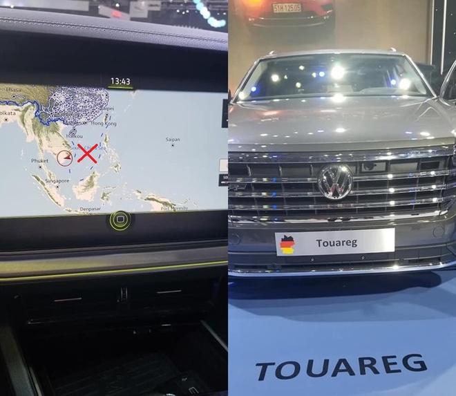 """Hình ảnh """"đường lưỡi bò"""" trên bản đồ định vị của Volkswagen được người dùng chụp lại."""