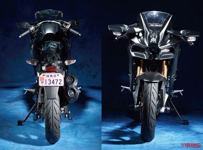 Kawasaki Z125 Pro lot xac thanh Ninja H2 anh 2