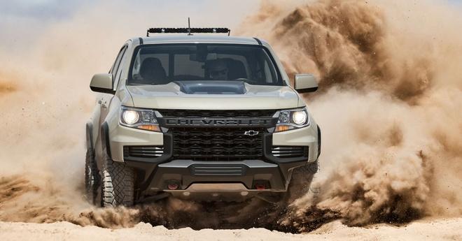 Chevrolet Colorado facelift 2021 lo dien anh 3