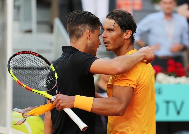 Highlights Nadal thua soc Dominic Thiem tai tu ket Madrid Open hinh anh