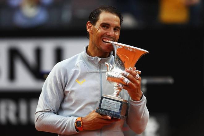 Nadal lan thu 8 vo dich Rome Masters, tro lai so 1 the gioi hinh anh