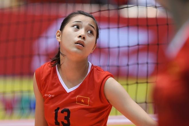 Hot girl Thu Huyen, 'nhac truong' doi bong chuyen U19 Viet Nam hinh anh 1