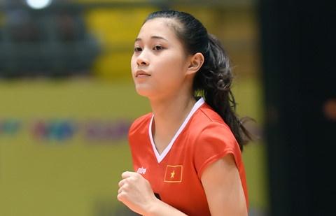 Hot girl Thu Huyen, 'nhac truong' doi bong chuyen U19 Viet Nam hinh anh
